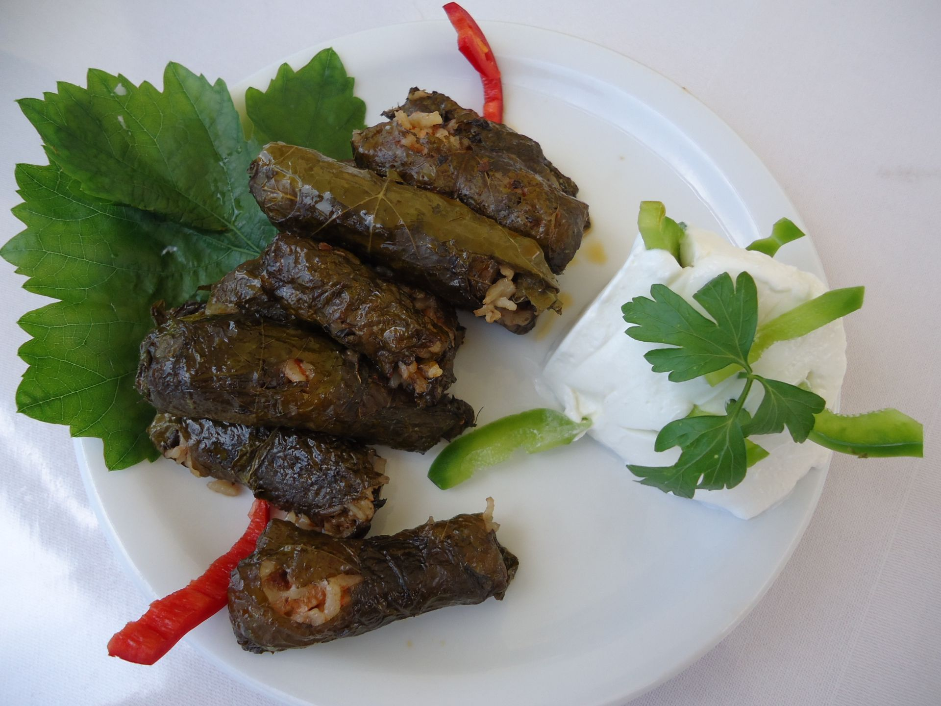 Gorges coastlines & tastes_stuffed_vine_leaves_tastes Evenos_Travel